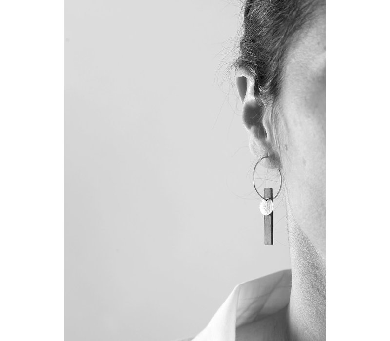 Matimañana  - Earrings - Silver & Walnut