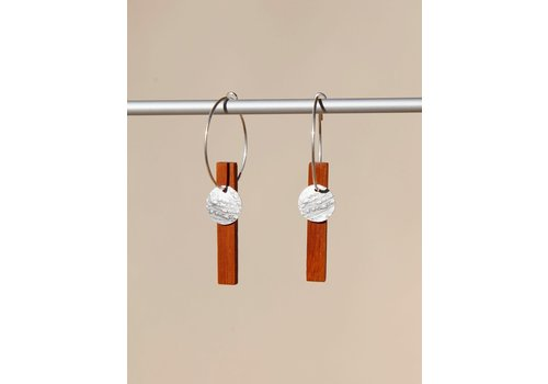 Matimanana Matimañana  - Earrings - Silver & Palo Rose