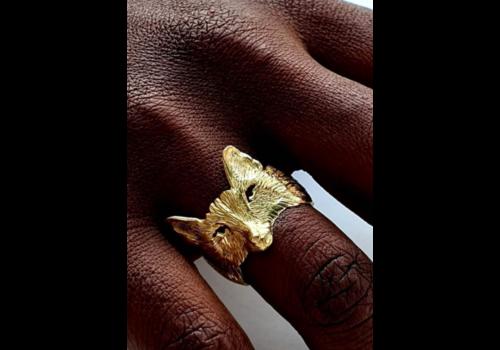 Michi Roman Michi Roman - Fox Ring - Gold Plated Silver