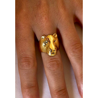 Michi Roman - Lioness Ring - Gold Plated Silver