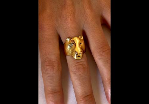 Michi Roman Michi Roman - Lioness Ring - Gold Plated Silver