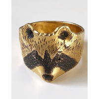 Michi Roman - Raccoon Ring - Gold plated Silver