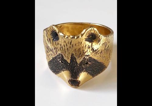Michi Roman Michi Roman - Raccoon Ring - Gold plated Silver