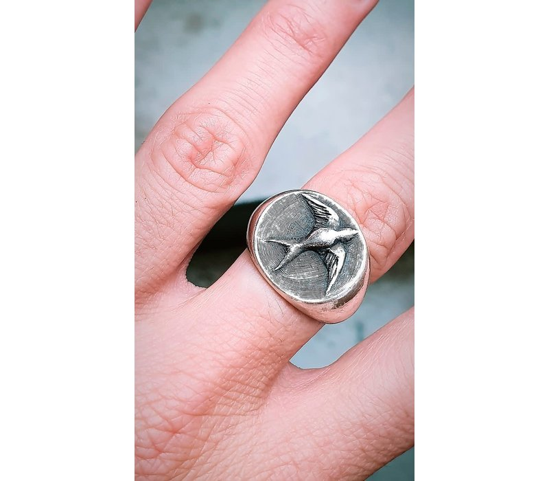 Michi Roman - Swallow Ring - Sterling Silver