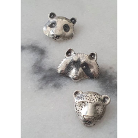 Michi Roman - Raccoon Necklace Sterling Silver