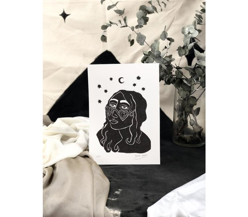 Hanako Mimiko - Carmen - A4 Print