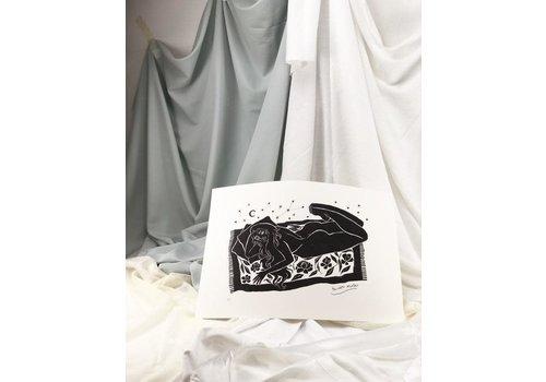 Hanako Mimiko Hanako Mimiko - Dolce Far Niente II - A3 Print