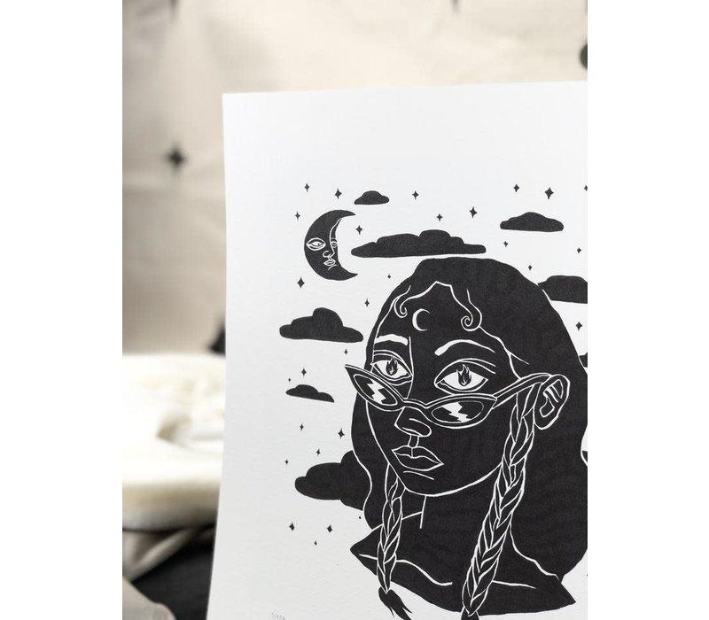 Hanako Mimiko - Fuego - A3 Print