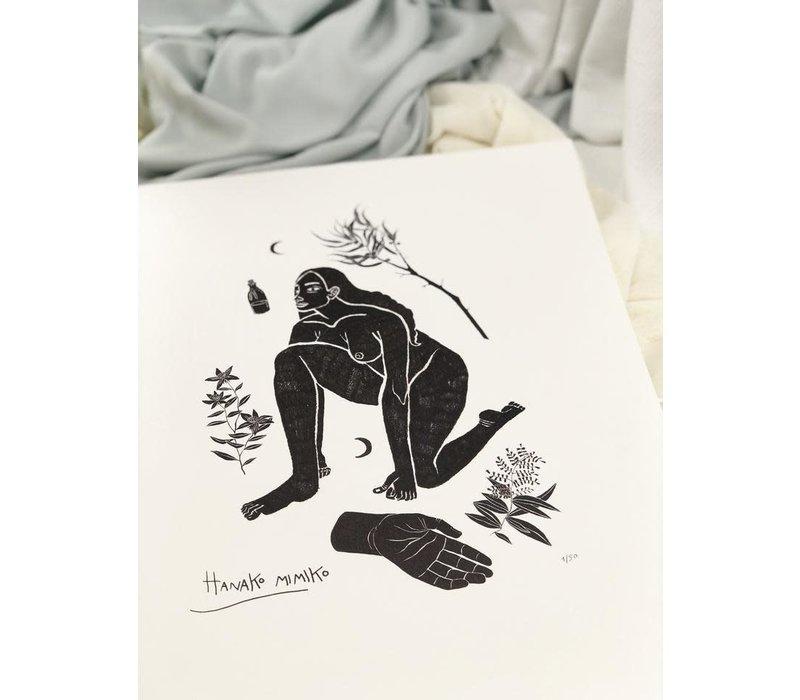 Hanako Mimiko - Meiga - A3 Print