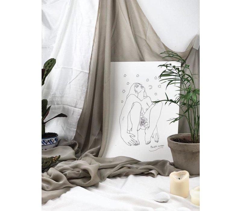 Hanako Mimiko - Origen - A3 Print