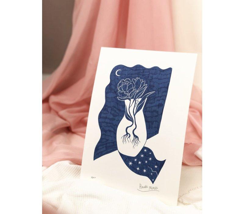 Hanako Mimiko - Jarrón Estrellado - A4 Print