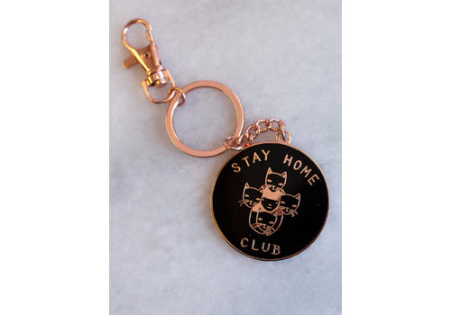 Stay Home Club Stay Home Club - Black and Gold - Keychain