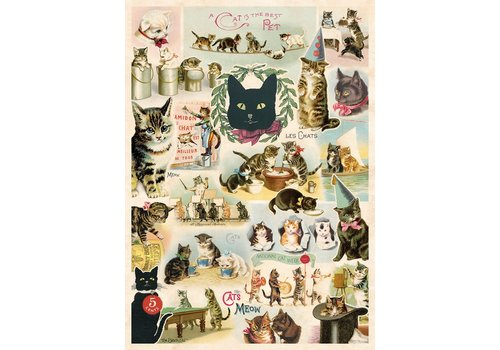 Cavallini Papers & Co Cavallini - Cat Collage - Wrap/Poster