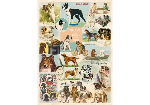 Cavallini Papers & Co Cavallini - Dog Collage - Wrap/Poster