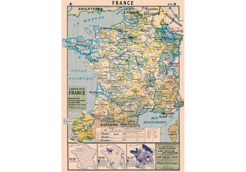 Cavallini Papers & Co Cavallini - France Map - Wrap/Poster