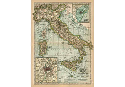 Cavallini Papers & Co Cavallini - Italy Map  - Wrap/Poster