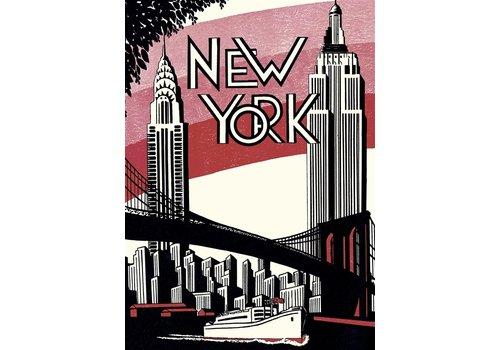 Cavallini Papers & Co Cavallini - New York City 4 - Wrap/Poster