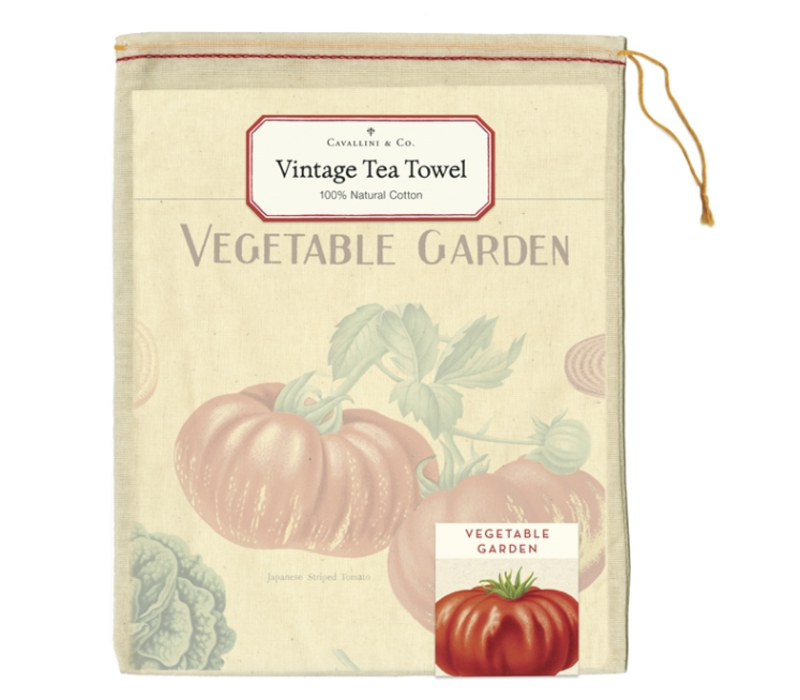 Cavallini - Vegetable Garden - Tea Towel