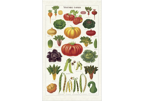 Cavallini Papers & Co Cavallini - Vegetable Garden - Tea Towel