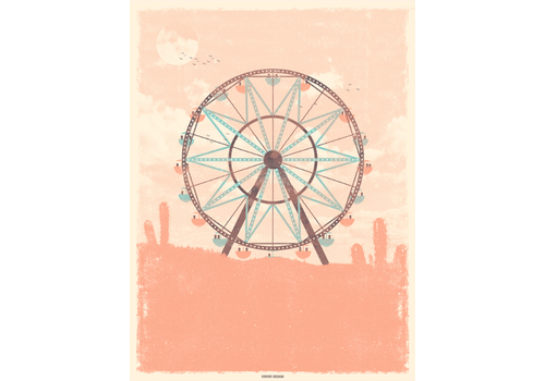 Error Design Error Design - Ferris Wheel - Art Print