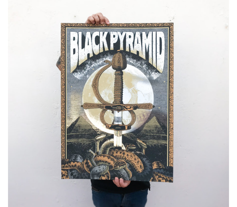 Error Design - Black Pyramid - Gig Poster