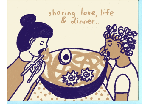 People I've Loved People I've Loved - Sharing Dinner - Greeting Card