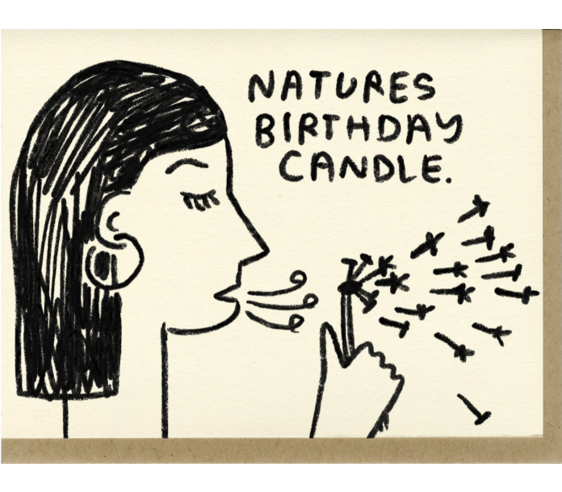People I've Loved - Nature's Birthday Candle - Greeting Card