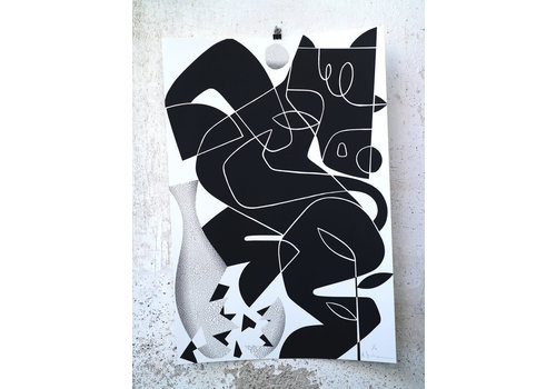 Ruben Sanchez Ruben Sanchez - Horse and Vase - Silkscreen Print