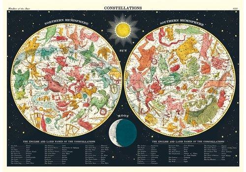 Cavallini Papers & Co Cavallini - Constellations 2 - Wrap/Poster