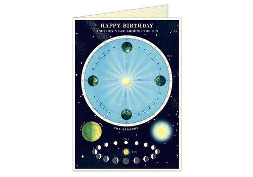 Cavallini Papers & Co Cavallini - Happy Birthday Astronomy Chart - Greeting Card