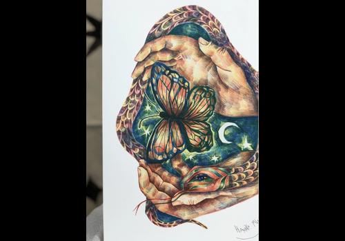 Carmen Seijas Carmen Seijas- The Spring Trapped in my Hands - A3 Print