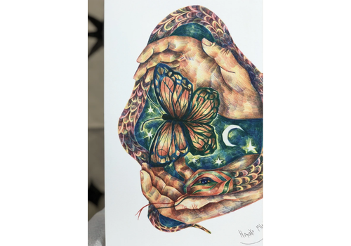Hanako Mimiko Hanako Mimiko - The Spring Trapped in my Hands - A3 Print
