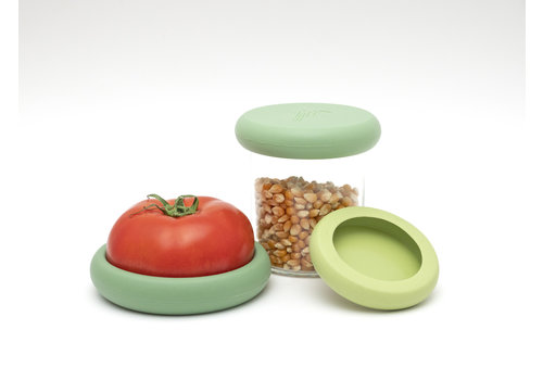 Food Huggers Food Huggers - Set of 3 Soft Green