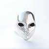 Xtellar Xtellar - Alien Ring with onyx eyes - Silver