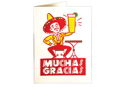 Archivist Gallery Archivist Gallery - Muchas Gracias - Greeting Card