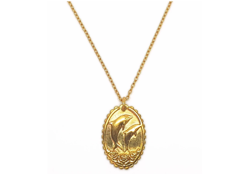 Xtellar Xtellar - Dolphin Necklace - Goldplated brass