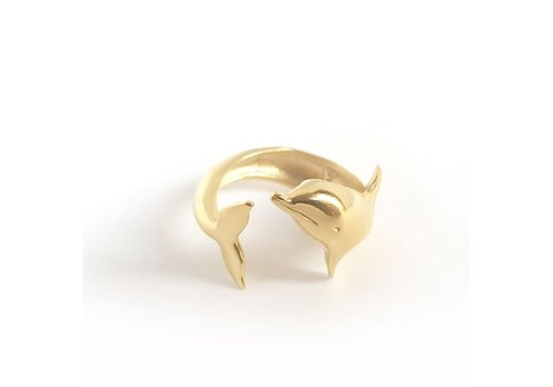 Xtellar Xtellar - Dolphin Ring - Gold Coated Silver