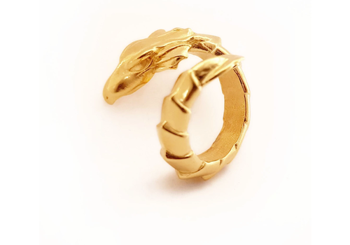 Xtellar Xtellar - Dragon Ring - Gold Coated Brass