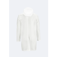 Rains - Transparent Hooded Coat - Foggy White - XS/S
