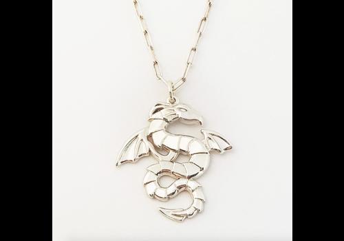 Xtellar Xtellar - Dragons Necklace - Silver