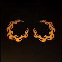 Xtellar - Flame Earrings - Gold Aluminium