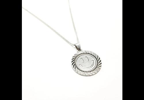 Xtellar Xtellar - Smiley - Silver Necklace