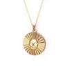Xtellar Xtellar - Sun Necklace - Gold Plated Brass