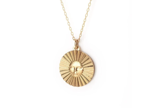 Xtellar Xtellar - Sun Necklace - Gold Plated Brass