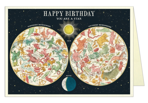 Cavallini Papers & Co Cavallini - Happy Birthday Constellation - Greeting Card
