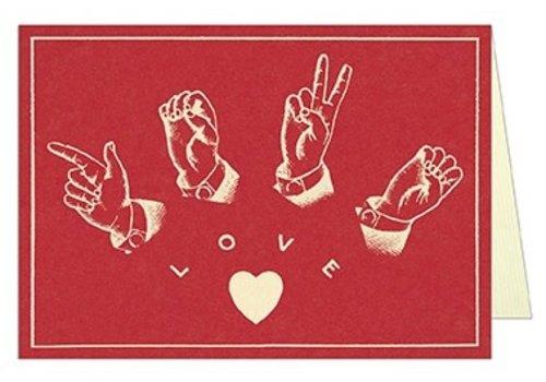 Cavallini Papers & Co Cavallini - Sign Language - Greeting Card
