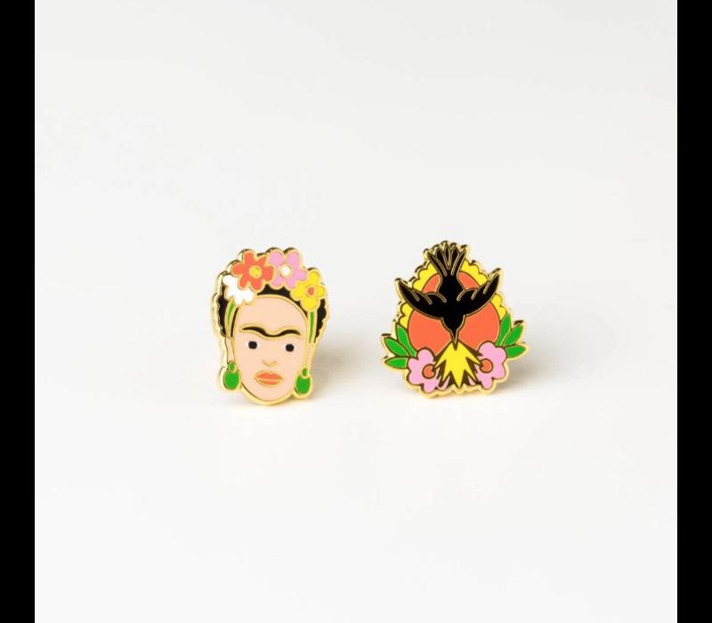 Yellow Owl Workshop - Frida Kahlo Milagro - Earrings