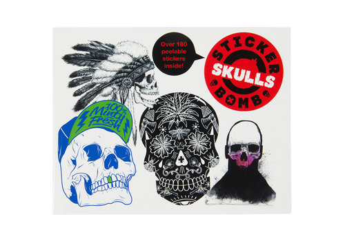 Laurence King Stickerbomb Skulls