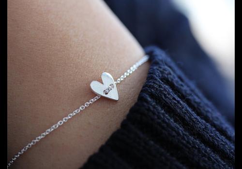 Âme Ame Jewels - Heart Bracelet - Silver
