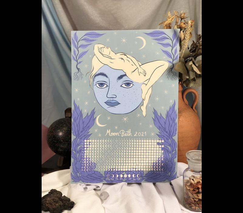 Hanako Mimiko - Moon Calendar - Print